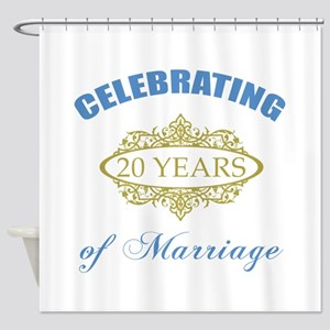 Celebrating 20 Years Of Marriage Shower Curtain