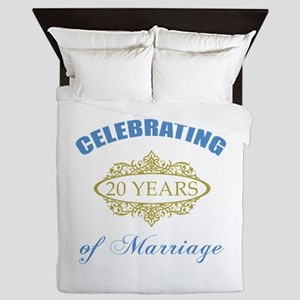Celebrating 20 Years Of Marriage Queen Duvet