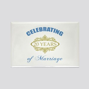 Celebrating 20 Years Of Marriage Rectangle Magnet
