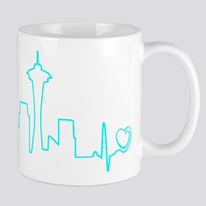Seattle Heartbeat (Heart) AQUA Mug