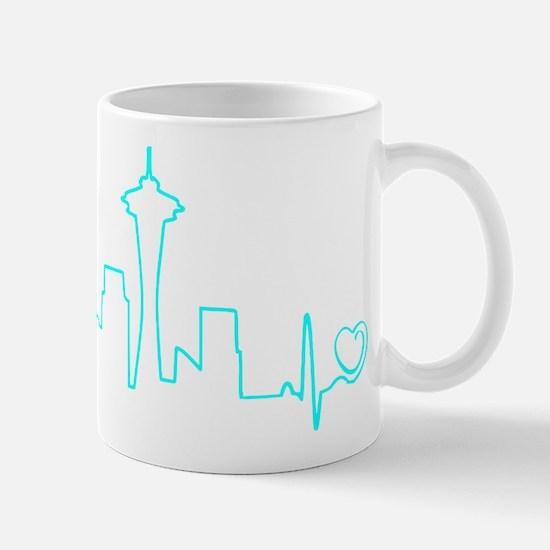 Seattle Heartbeat (Heart) AQUA Mug