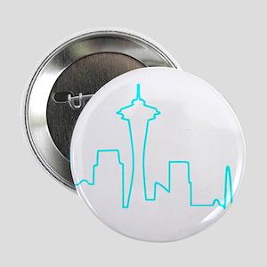"Seattle Heartbeat (Heart) AQUA 2.25"" Button"