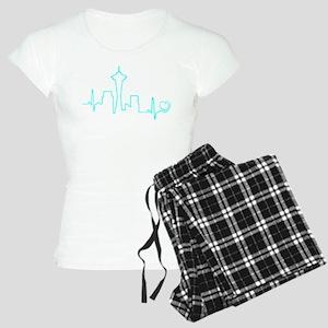 Seattle Heartbeat (Heart) AQUA Pajamas