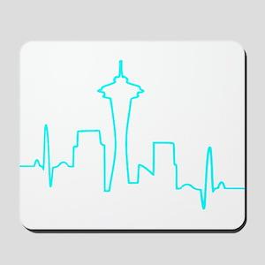 Seattle Heartbeat AQUA Mousepad