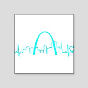 St. Louis Heartbeat (Heart) AQUA Sticker