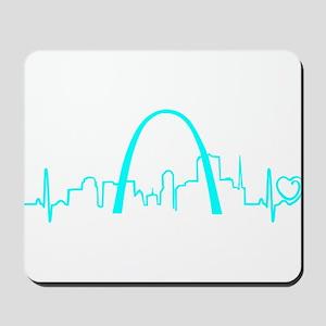 St. Louis Heartbeat (Heart) AQUA Mousepad