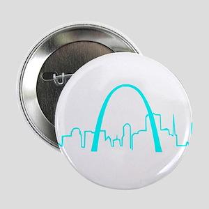 "St. Louis Heartbeat (Heart) AQUA 2.25"" Button"
