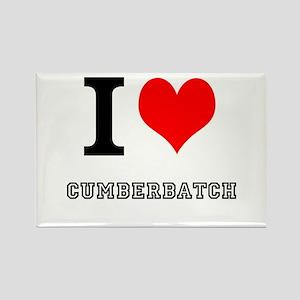 I heart cumberbatch Rectangle Magnet