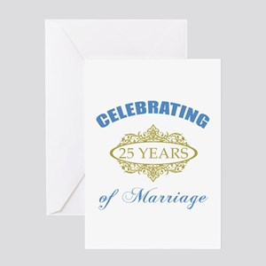 Celebrating 25 Years Of Marriage Greeting Card