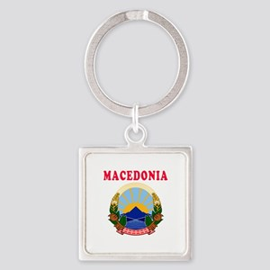 Macedonia Coat Of Arms Designs Square Keychain