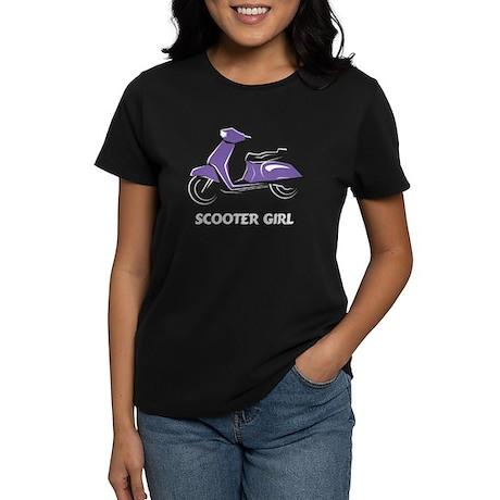 Scooter Girl (Purple) Women's Dark T-Shirt