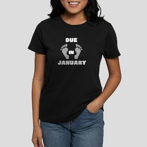 DueInJAN-white T-Shirt