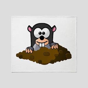 Cartoon Gopher Throw Blanket