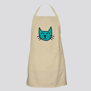 Aqua Cat Face Apron