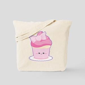 Pink Loli Cupcake Tote Bag