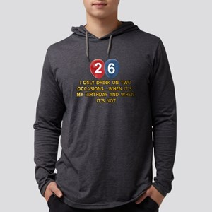 26 year old birthday designs Mens Hooded Shirt