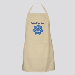 Customizable Blue Fabric Flower Apron