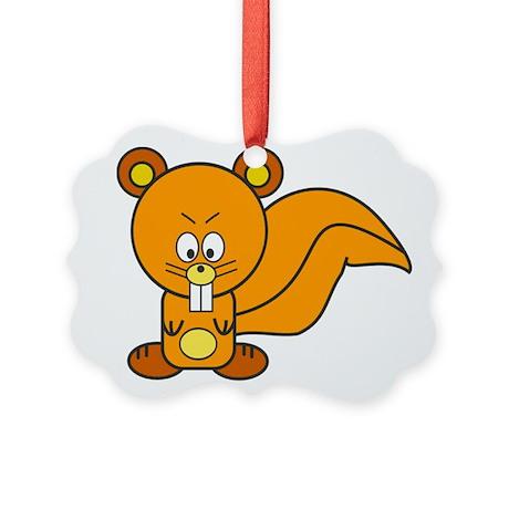 Cartoon Squirrel Ornament