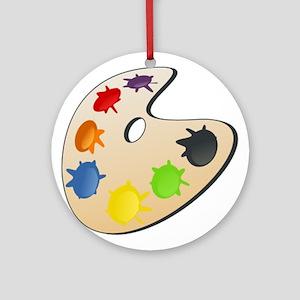 Art Paint Palette Ornament (Round)