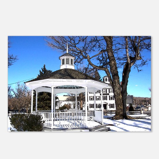 Cute New england christmas Postcards (Package of 8)