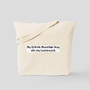 Estrela Mountain Dog ate my h Tote Bag