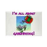 I'm All About Gardening Rectangle Magnet (100 pack