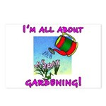 I'm All About Gardening Postcards (Package of 8)