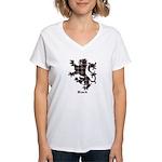 Lion - Black Women's V-Neck T-Shirt