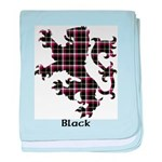 Lion - Black baby blanket
