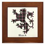Lion - Black Framed Tile