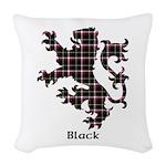 Lion - Black Woven Throw Pillow