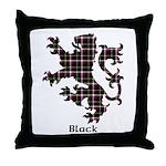 Lion - Black Throw Pillow