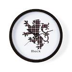 Lion - Black Wall Clock