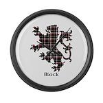 Lion - Black Large Wall Clock