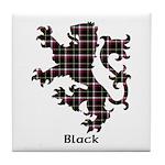 Lion - Black Tile Coaster