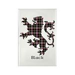 Lion - Black Rectangle Magnet (10 pack)