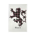 Lion - Black Rectangle Magnet (100 pack)