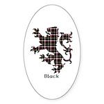 Lion - Black Sticker (Oval 50 pk)