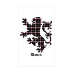 Lion - Black Sticker (Rectangle 10 pk)