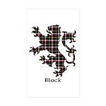 Lion - Black Sticker (Rectangle 50 pk)