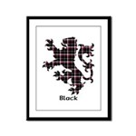 Lion - Black Framed Panel Print
