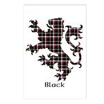 Lion - Black Postcards (Package of 8)