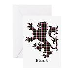 Lion - Black Greeting Cards (Pk of 20)