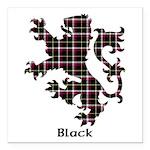 Lion - Black Square Car Magnet 3