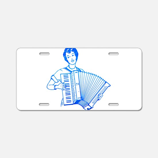 Playing accordion Aluminum License Plate