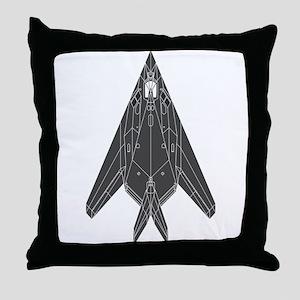 Lockheed F-117 Nighthawk Throw Pillow