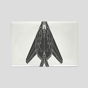Lockheed F-117 Nighthawk Rectangle Magnet