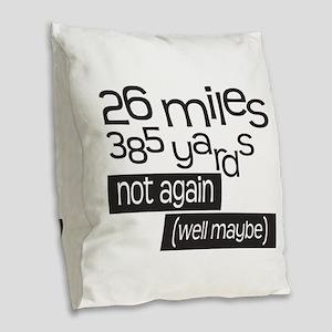 Funny 26.2 Marathon Burlap Throw Pillow