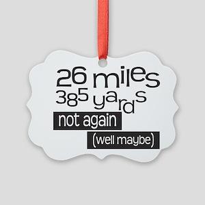Funny 26.2 Marathon Picture Ornament