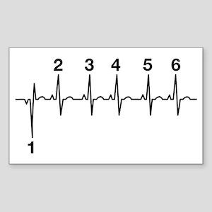 Biker Heartbeat Lifeline Sticker